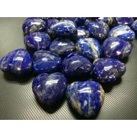 Cheap top quality raw stone--lapis AB heart for sale