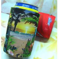 Cheap neoprene can chiller with heat transferring huggies / cool neoprene can koozie with base for sale