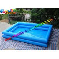 China Heat Sealed Rectangle Inflatable Swimming Pool , 2 Layers Inflatable Water pools on sale