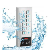 Buy cheap 125kHz Proximity Card Door Access Control Keypad Zinc Material IP68 Waterproof from wholesalers