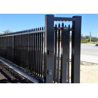 Cheap Garrison Security Fencing steel picket Fence for sale 65mm x 65mm x 3000mm post for sale