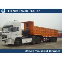 Cheap Garden , cargo ,  Landscape side / End dump trailer with Hydraulic Cylinder Lifting system for sale
