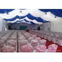 Cheap White and Blue Top Lining Outdoor Party Tents Structure, aluminum profile wholesale