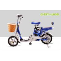 Cheap 48V 250W Small City Lightweight Electric Power Scooter 14 25Km / H Dual Seat for sale