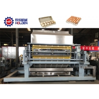 China Rotary Waste Paper Pulp Moulding 6000pcs / Hour Egg Tray Machine on sale
