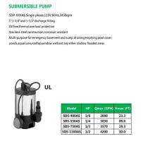 Cheap SUBMERSIBLE PUMP SDS-400AS SDS-550AS SDS-750AS SDS-1100AS for sale