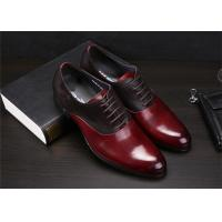 Color Blocking Classic Dress Shoes Fashion Upper With Leather And Suede Sewing Together
