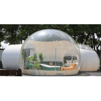 Cheap Dome House Igloo Transparent Inflatable Tent with 4 Parts Bathroom, living room, bedroom and passageway for sale
