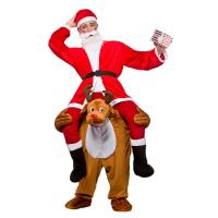 Cheap Christmas Ride On Deer Adult Animal Costumes For Halloween Party for sale