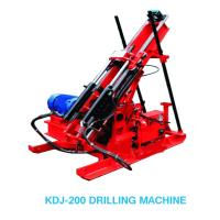 Cheap KDJ-200 Hydraulic Trunnel Drilling Rig In Treatment Disaster for sale