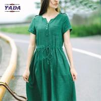 Cheap Casual linen summer casual formal office dresses designer dress for women for sale