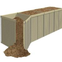 Cheap Pakistan Sand Filled Hesco Bastion Barriers Blast Gabion Walls With Geotextile for sale