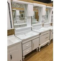 Cheap Floor Mounted PVC Bathroom Washbasin Cabinet With Painting ISO Standard 80cm for sale