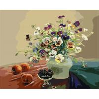Cheap Diy oil painting, paint by number kit Oil Painting By Number 40x50cm Flower for sale
