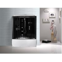Quality Black  Profiles Enclosed Bath Shower Unit , Complete Shower Stall Kits wholesale