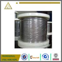Cheap galvanized steel wire rope 1x19 for sale