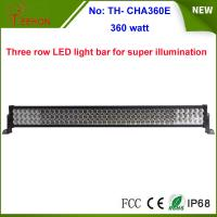 Cheap 360w 25200lm three row LED work light bar with spot, flood or combo beam types for choice for sale
