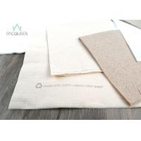 Cheap Eco Friendly Disposable Tableware Eco Brown Kraft / White Napkins Offset Printing for sale