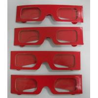 Buy cheap Paper Stereoscopic 3d Glasses For Watch 3D Games , 405x38mm Size from wholesalers