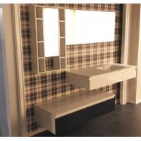 Cheap Floating Vanity Big Mirror Bathroom Vanity Cabinets Quartz Stone Countertop for sale