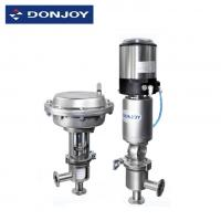 Cheap Stainless Steel Pneumatic Actuator Valve For Aseptic Regulating With Controlller / Positioner wholesale