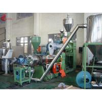 Cheap 185 KW Two Stage PVC Plastic Pelletizing Line 60rpm , Pellet Maker Machine for sale