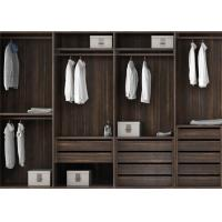 Cheap Pull Out Cloth Rack Walk In Closet Cabinets , Melamine Finish 4 Door Wardrobe for sale