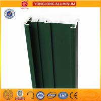 Square Green Powder Coated Aluminum Alloy Extrusion With Strong Stability for sale