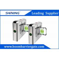 30 Persons / Min Steel Swing Barrier Gate , Smart Subway Turnstile Gate