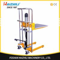 Cheap Load capacity 400kg hydraulic portable manual hand stacker forklift for sale