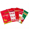Cheap CMYK Printing 0.06mm CPE Drawstring Xmas Gift Bags for sale