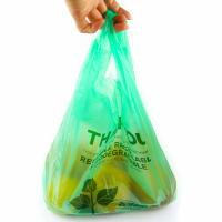 Cheap 40 % Bio Based Biodegradable Plastic Shopping Bags , Eco Friendly Plastic Bags for sale