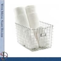 China Wire Locker Basket with name plate / Wire Chrome Basket  / Metal Display Stand / Wire Display Rack on sale