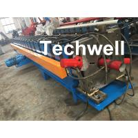 Cheap 0-15m/Min Forming Speed Downpipe Machine, Rainspout Roll Forming Machine With Coil Thickness 0.4-0.6mm for sale