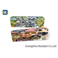 Cheap Cartoon Animal 3D Stationery Flip Effect For School , 3D Pencil Case for sale