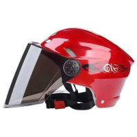 Cheap Retro Motorcycle Helmet Fashion Open Half Face Helmet Electric Motorcycle Keep Warm Safe Helmet With CE Certificate for sale