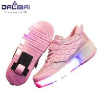 Cheap High quality fabrics kids led light up skate roller shoes wholesale