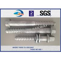 Cheap M24 X 214mm Railway Sleeper track spikes or screw spikes With HDG coatings for sale