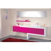 Cheap Double Sink Bathroom Vanities And Cabinets With Mirror Custom Lacquer Painting for sale