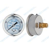 Cheap 2.5 Inch hydraulic Oil pressure gauge with roll ring type , isolate brass internal for sale