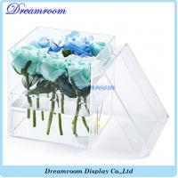 Cheap Wholesale Clear Transparent 9 Rose Display Acrylic Flower Box wholesale