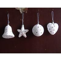 Cheap Small White Star, Ball, Heart, Bells Shopping Mall Christmas Decorations Pendant Baubles for sale