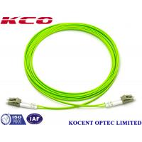 Buy cheap OM5 Multimode Duplex Fiber Optic Cable Lime Green 10m 20m 30M Lenth PVC LSZH from wholesalers