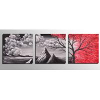 Cheap Free shipping Framed 3 Panel oil paintings 100% Hand Painted Landscape Wall art Home Decor framed art On Canvas op474 for sale