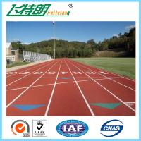 Buy cheap Recyclable 13 MM Synthetic Rubber Flooring / Running Track Material from wholesalers
