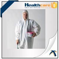Cheap 2020-nCov new Coronavirus 25G PP White Disposable Coveralls With Hood And Shoe Cover for sale