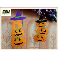 Cheap New Halloween pendant non - woven pendant creative festive fence blanket decorated with pumpkin ornaments for sale