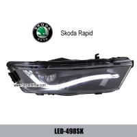 Cheap Skoda Rapid DRL LED light guide Daytime Running Light foglight fog lamps with condenser lens LED-498SK for sale