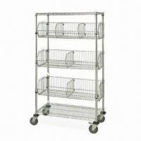 China Chrome-plated Tier Rack with Adjustable Foot, Easy to Assemble, Various Sizes are Available on sale