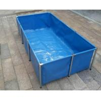 Cheap Fireproof 4000L Tarpaulin Fish Tank With Blue Fish Pond Liner Environmental PVC for sale
